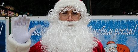 Дед Мороз в окно Днепропетровск
