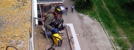 Ремонт балконных козырьков Днепропетровск